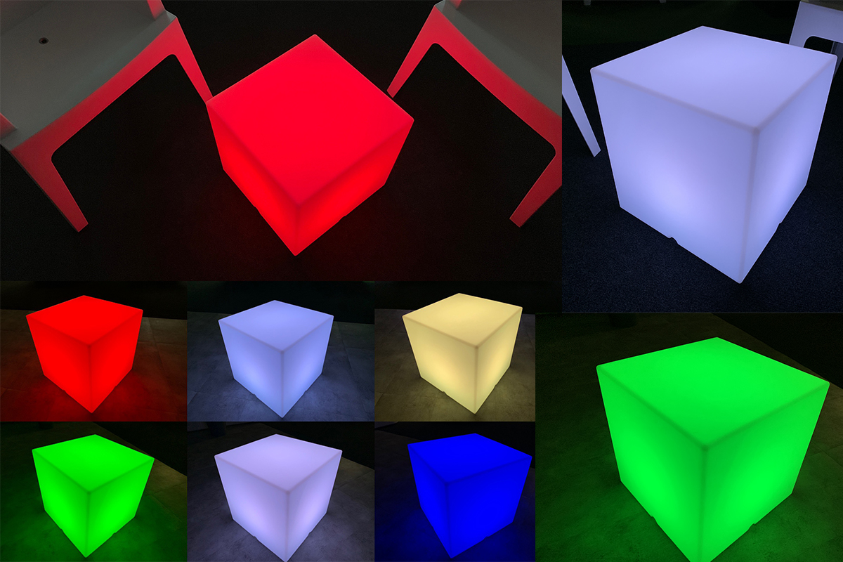 Location mobilier lumineux cube led vaucluse